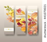 autumn background. vector eps... | Shutterstock .eps vector #441070021