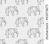 seamless pattern elephant...   Shutterstock .eps vector #441073675