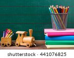 back to school concept  colored ... | Shutterstock . vector #441076825