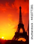 Eiffel Tower Silhouette At...