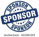 sponsor. stamp   Shutterstock .eps vector #441081394