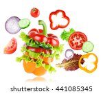 mixed vegetables. fresh food.... | Shutterstock . vector #441085345