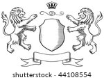 lions insignia | Shutterstock .eps vector #44108554