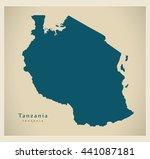modern map   tanzania tz | Shutterstock .eps vector #441087181