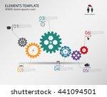 vector template infographic ... | Shutterstock .eps vector #441094501