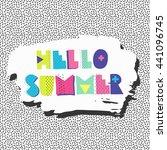 summer vector background. hand... | Shutterstock .eps vector #441096745