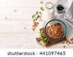 a food background with a glass... | Shutterstock . vector #441097465