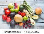 variety of vegetables and... | Shutterstock . vector #441100357