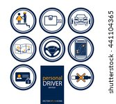personal driver service icons.... | Shutterstock .eps vector #441104365