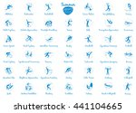 summer sports icons set  vector ...