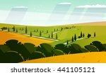 colorfull cartoon flat...   Shutterstock .eps vector #441105121