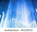 stock indicators and bar charts | Shutterstock . vector #44110513
