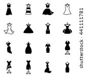different styles of black party ... | Shutterstock .eps vector #441111781