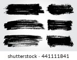 hand drawn brushes.grunge brush ... | Shutterstock .eps vector #441111841