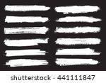 grunge brush strokes.vector...