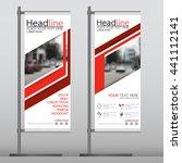 red flag banner business... | Shutterstock .eps vector #441112141