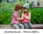 photo of two cute hipsters | Shutterstock . vector #441113851