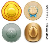 vector hats set 2 | Shutterstock .eps vector #441116221