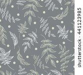 floral decorative seamless... | Shutterstock .eps vector #441123985