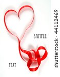ribbon in heart shape on white... | Shutterstock . vector #44112469
