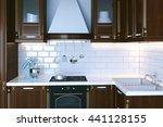 classic wooden kitchen... | Shutterstock . vector #441128155
