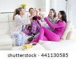 shot of four women sat in their ... | Shutterstock . vector #441130585