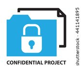 confidential project  business... | Shutterstock .eps vector #441141895