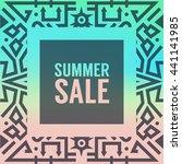 summer sale vibrant banner.... | Shutterstock .eps vector #441141985