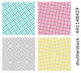 set of geometric seamless weave ... | Shutterstock .eps vector #441148429