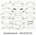 set of hand drawn black doodle... | Shutterstock .eps vector #441151711