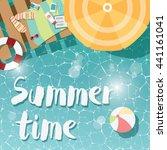 modern typographic summer... | Shutterstock .eps vector #441161041