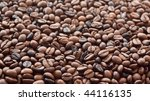 Background of roasted coffee beans. - stock photo