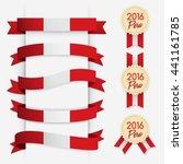 world flag ribbon   vector... | Shutterstock .eps vector #441161785