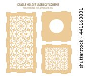 diy laser cutting vector scheme ... | Shutterstock .eps vector #441163831