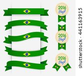 world flag ribbon   vector... | Shutterstock .eps vector #441163915