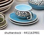 beautiful painted ceramic... | Shutterstock . vector #441163981