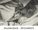 clothes in washing machine... | Shutterstock . vector #441166021