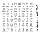 appliances simple icons set.... | Shutterstock .eps vector #441172651