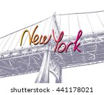 Manhattan Bridge Hand Drawn...