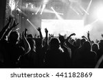 crowd at popular music concert. | Shutterstock . vector #441182869