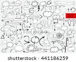 big vector set of comic... | Shutterstock .eps vector #441186259
