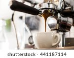 espresso coffee extraction with ... | Shutterstock . vector #441187114