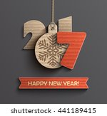 creative happy new year 2017... | Shutterstock .eps vector #441189415