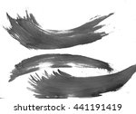 abstract painted ink and... | Shutterstock . vector #441191419