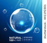 collagen natural or oxygen... | Shutterstock .eps vector #441192301