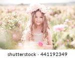 smiling child girl 4 5 year old ... | Shutterstock . vector #441192349