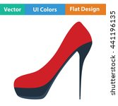 female shoe with high heel icon....