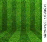 green grass soccer field... | Shutterstock . vector #441200254