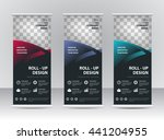 roll up banner stand template   Shutterstock .eps vector #441204955