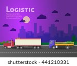 design for banner  truck. color ... | Shutterstock . vector #441210331